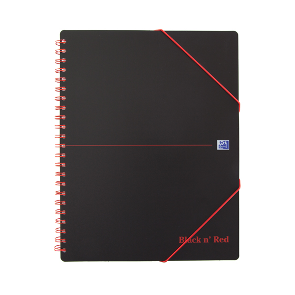 Black n Red Wirebound Polypropylene Meeting Book 160 Pages A4+ (Pack of 5) 100104323