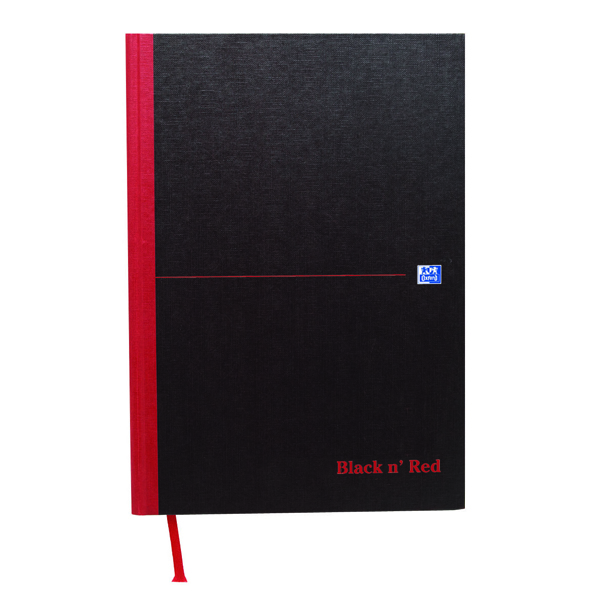 Black n Red A4 Casebound Hardback Double Cash Book 192 Pages (Pack of 5) 100080514