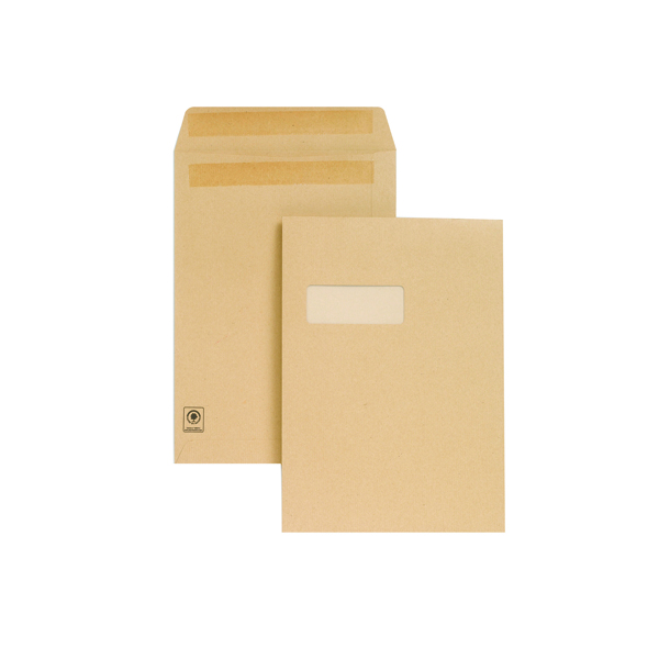 New Guardian C4 Window Envelopes 130gsm Manilla Self Seal (Pack of 250) M27503