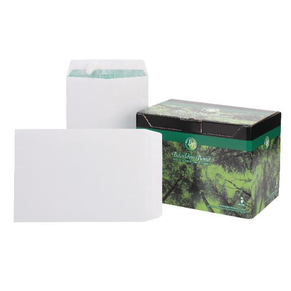 Basildon Bond C4 Envelopes Pocket Peel and Seal 120gsm White (Pack of 250) M80120