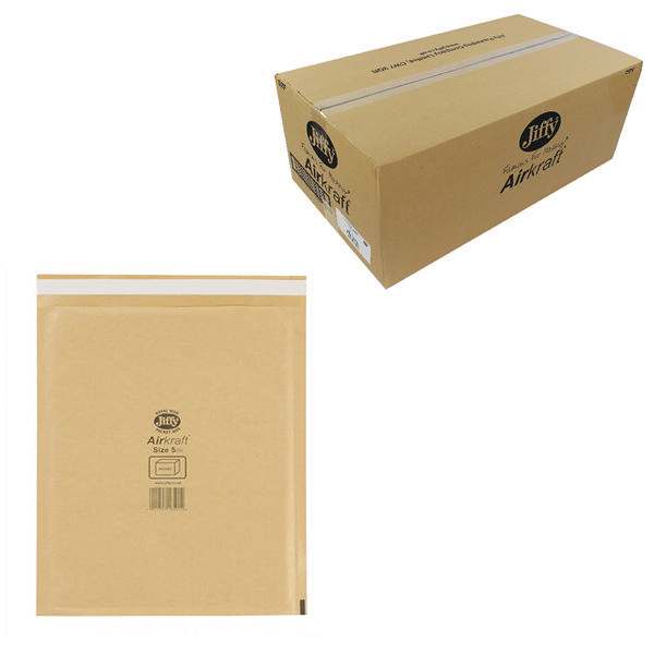 Jiffy AirKraft Bag Size 5 260x345mm Gold (Pack of 50) JL-GO-5