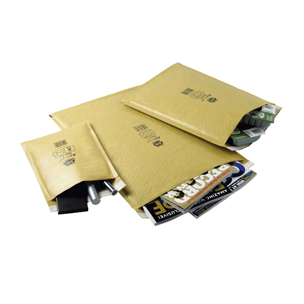 Jiffy AirKraft Bag Size 7 340x445mm Gold (Pack of 50) JL-GO-7