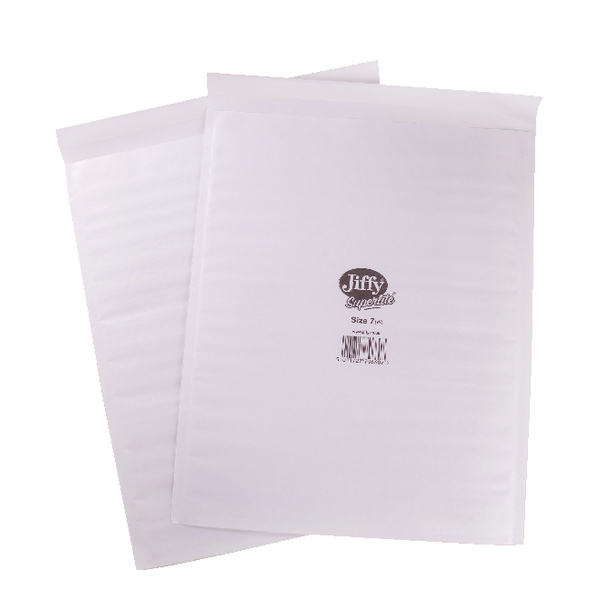 Jiffy Superlite Foam Lined Mailer Size 7 340x435mm White (Pack of 100) MBSL02807