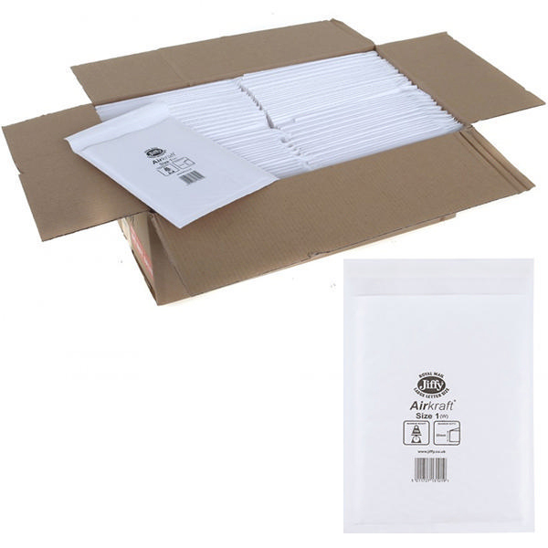 Jiffy Airkraft Bag Size 1 170x245mm White JL-1 (Pack of 10) 04890