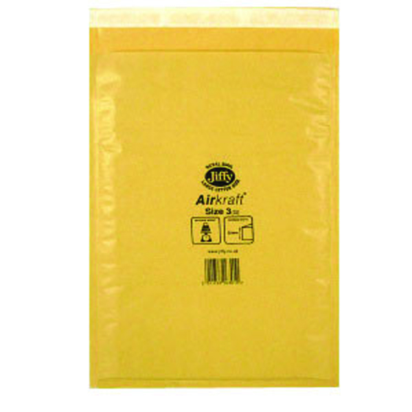 Jiffy AirKraft Bag Size 3 220x320mm Gold GO-3 (Pack of 10) MMUL04604