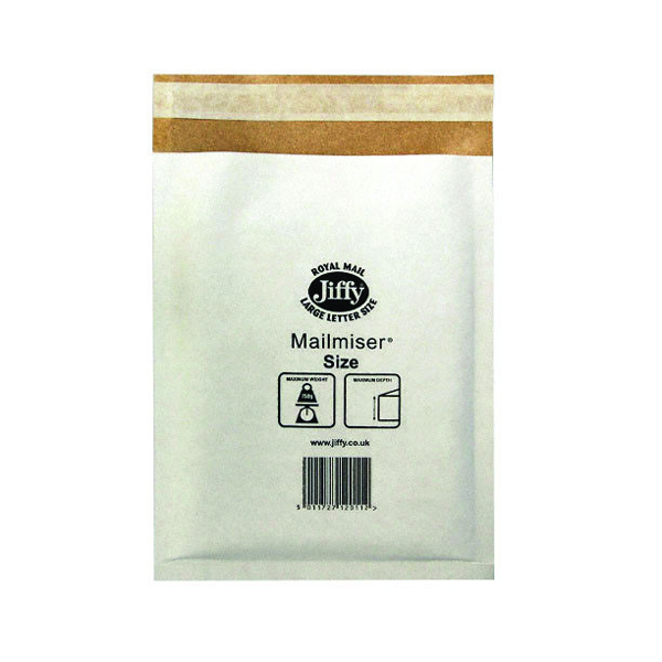 Jiffy Mailmiser Size 6 290x445mm MM-6 (Pack of 50) JMM-WH-6