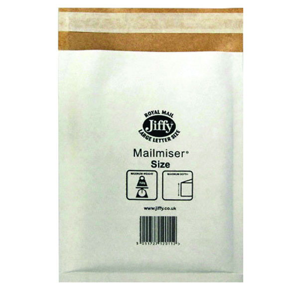 Jiffy Mailmiser Size 1 170x245mm White MM-1 (Pack of 10) 2220
