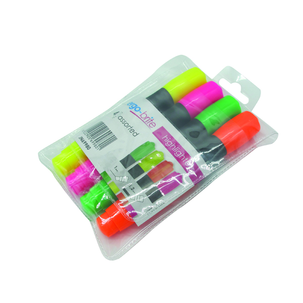 Image for Ergo-Brite Assorted Erognomic Highlighter Pens (Pack of 4)