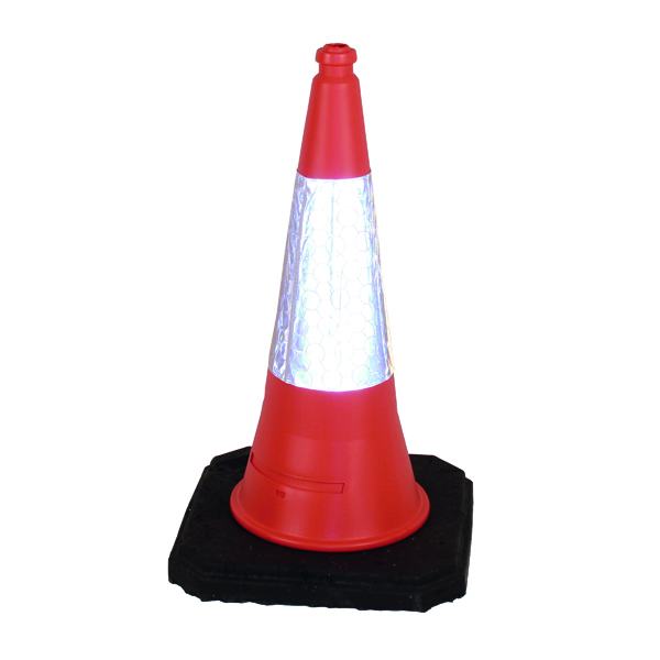 Red Weighted Traffic Cone With Reflective Sleeve 1000mm JAA060220654