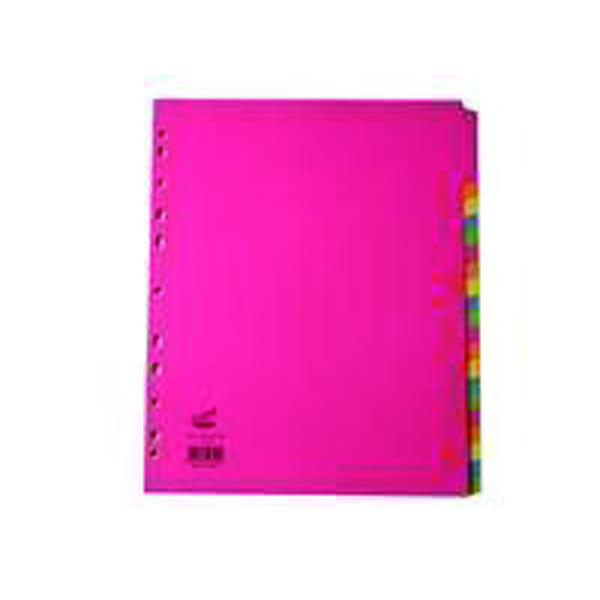 Concord 20-Part Subject Dividers Extra Wide Bright A4 Assorted (Pack of 10) 52399
