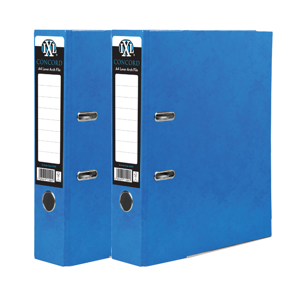 Image for Concord IXL Lever Arch File A4 70mm Blue (Pack of 10) BOGOF JT816017