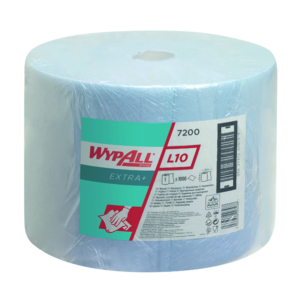 Wypall L20 Large Roll 1000 Sheets Blue 7200