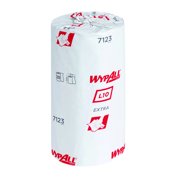 Wypall L10 Small Roll 1-Ply Blue (Pack of 12) 7123