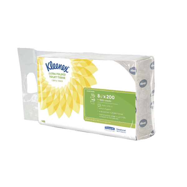 Kleenex Ultra Toilet Tissue Bulk Pack 2-Ply White 200 Sheets (Pack of 8) 8488