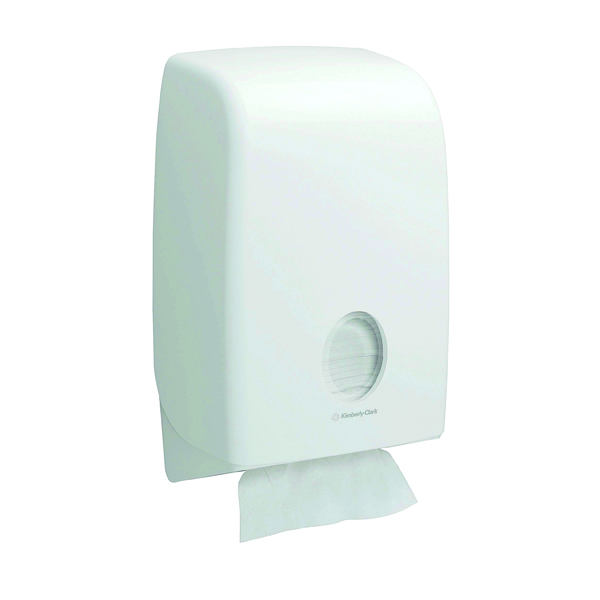 Aquarius Folded Hand Towel Dispenser White 6945