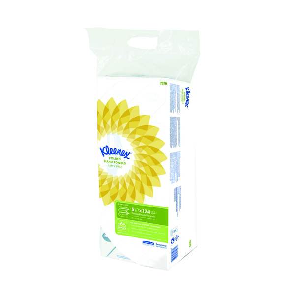 Kleenex White Ultra Hand Towel 124 Sheets (Pack of 5) 7979