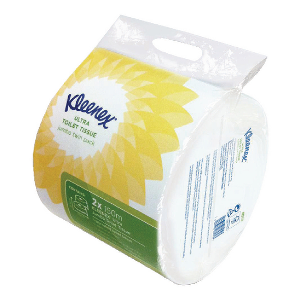 Kleenex Ultra Toilet Roll Jumbo Roll (Pack of 6) 8573
