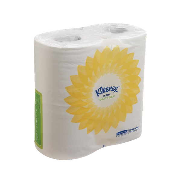 Kleenex 2-Ply Ultra Toilet Tissue 240 Sheets (2 ply tissue, 124 x 104mm sheet size) 8475