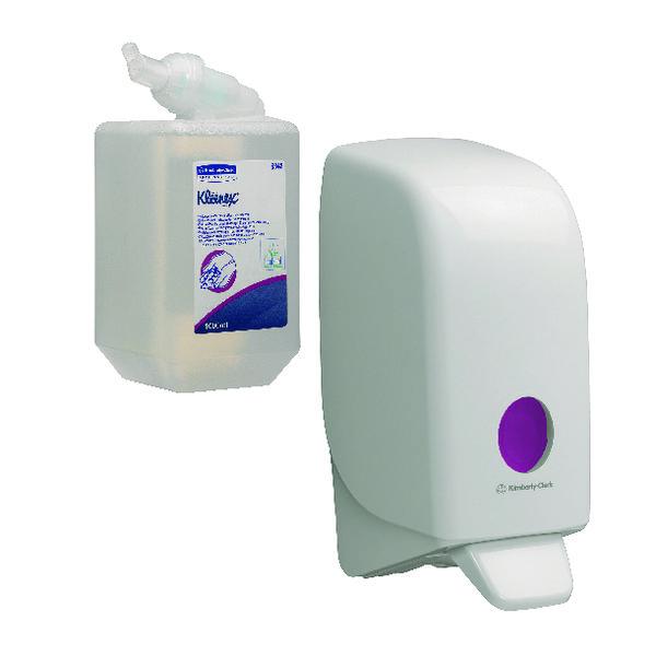 Scott Luxury Foam Hand Cleanser Cassette 1L (Pack of 6) FOC Aquarius Sanitiser Dispenser