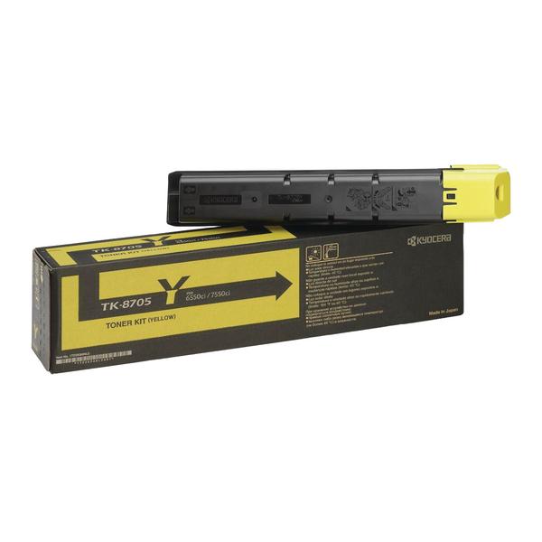 Kyocera 6550ci 7550ci Toner Cartridge Yellow TK-8705Y