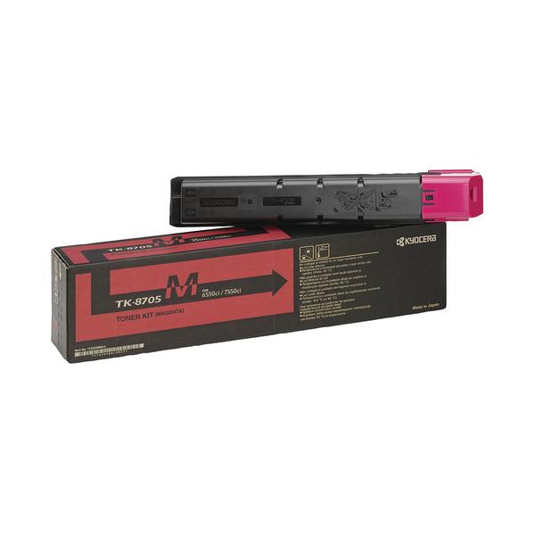 Kyocera 6550ci 7550ci Toner Cartridge Magenta TK-8705M