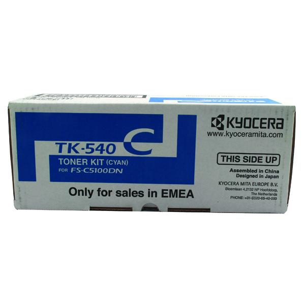 Kyocera TK-540C Cyan Toner Cartridge 1T02HLCEU0