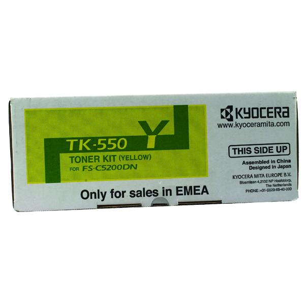 Kyocera TK-550Y Yellow Toner Cartridge 1T02HMAEU0