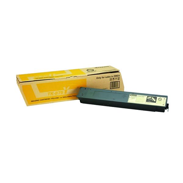 Kyocera TaskAlfa 550C/650C/750C Yellow Toner TK-875Y