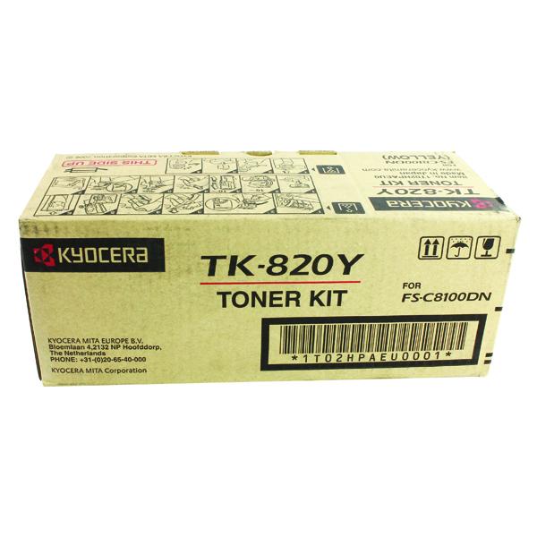 Kyocera Yellow TK-820Y Toner Cartridge