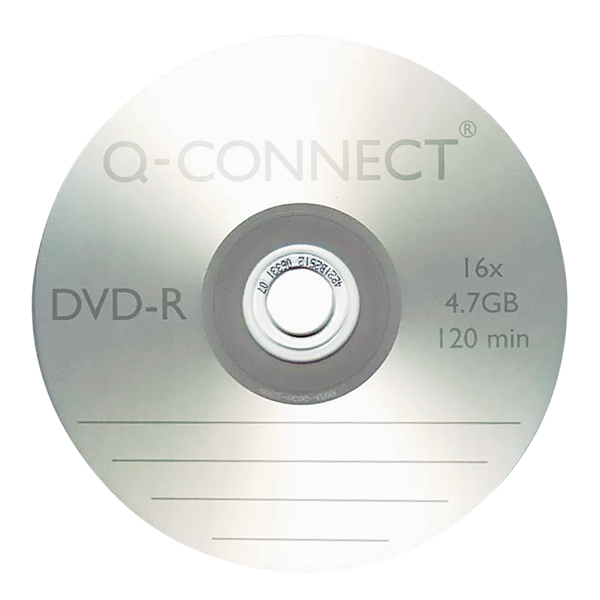 Q-Connect DVD-R 4.7GB Cake Box (Pack of 25)