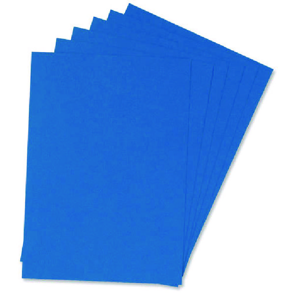 Q-Connect A4 Blue Leathergrain Comb Binder Cover (Pack of 100)