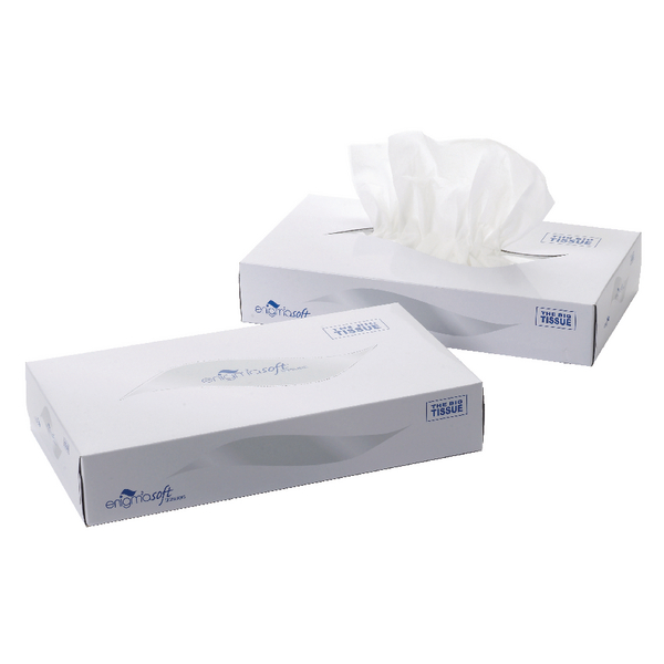 Image for 2-Ply White Facial Tissue Mansize 240x275mm 100 Sheets (Pack of 24) MSF100