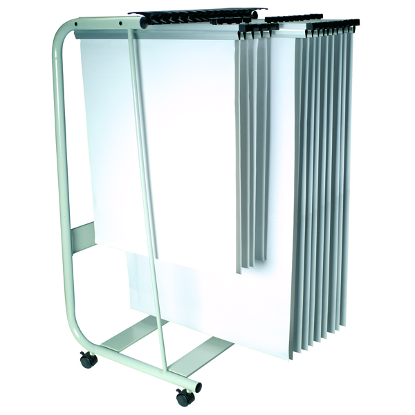 Q-Connect Mobile Hanger Stand (25 File Capacity)