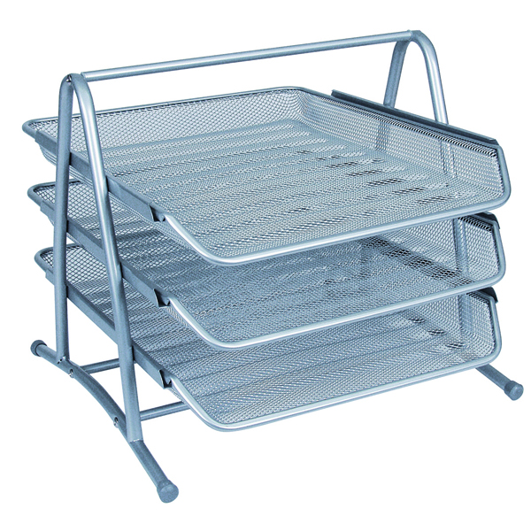 Q-Connect Silver 3 Tier Letter Tray