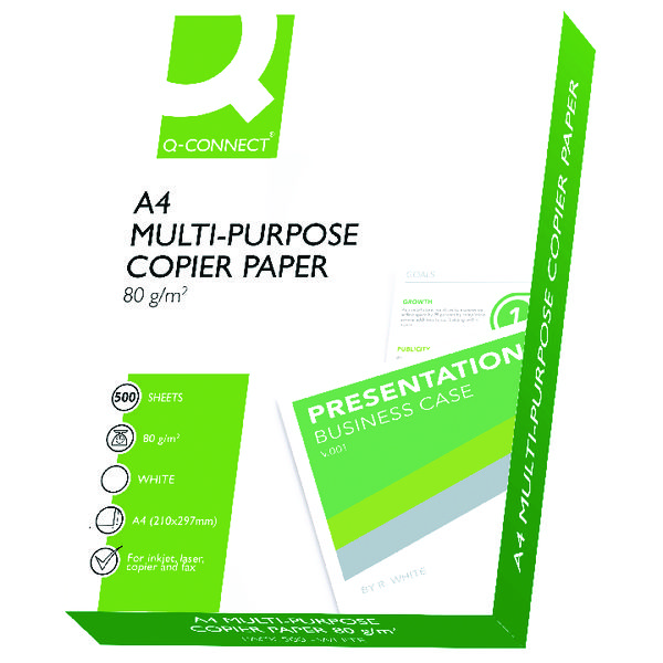 Q-Connect A4 White 80gsm Copier Paper (Pack 2500) KF01087