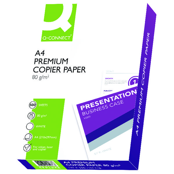 Q-Connect Premium Copier/Laser A4 Paper 80gsm White 5 Reams KF01088A
