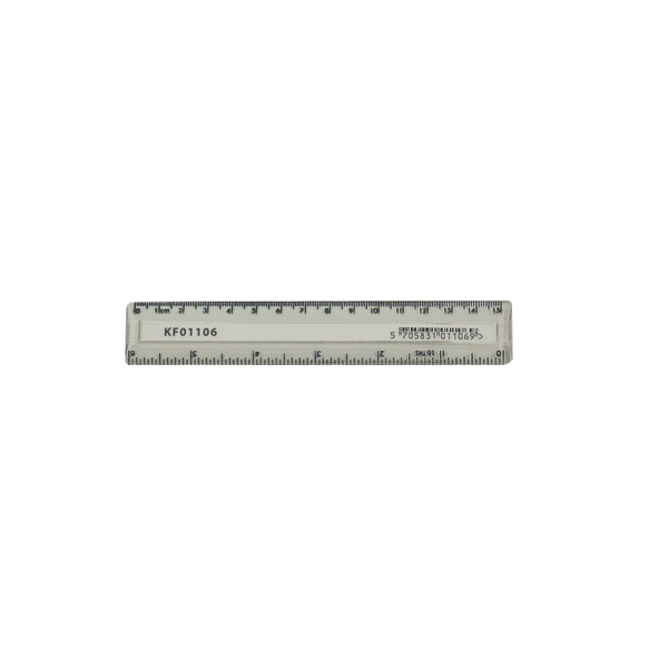 Q-Connect Acrylic Shatter Resistant Ruler 15cm Clear (Pack of 10)