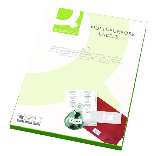 Q-Connect White Multipurpose Label 105 x 37mm Butt Cut 16 Per Sheet (Pack of 1600)