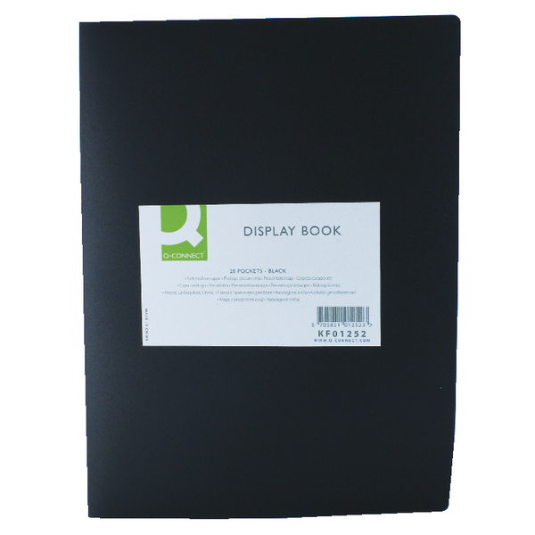 Image for Q-Connect 20 Pocket Black Display Book