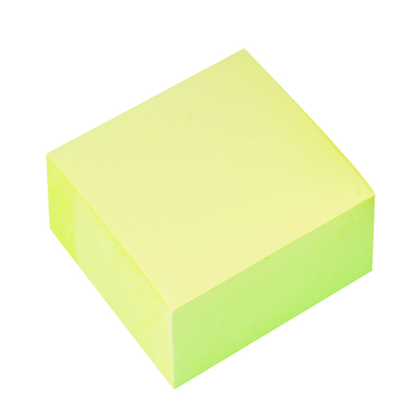 Q-Connect Quick Note Cube 76 x 76mm Yellow KF01346
