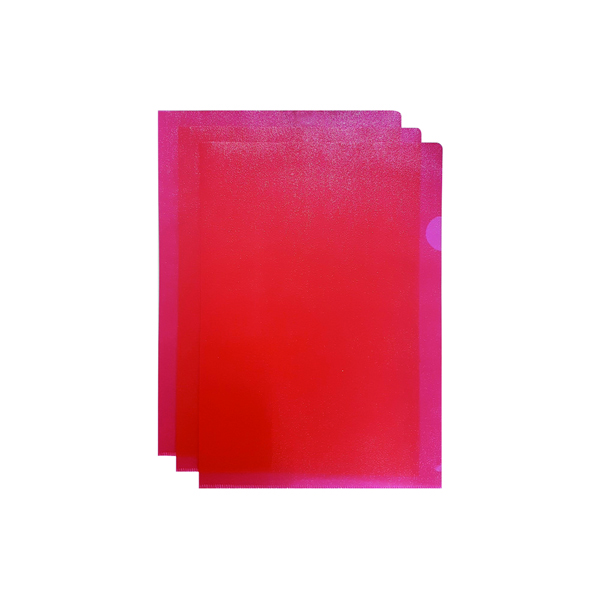 Q-Connect Red Cut Flush A4 Folder (Pack of 100)