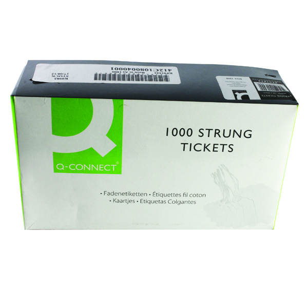White 70x44mm Strung Ticket Pk1000