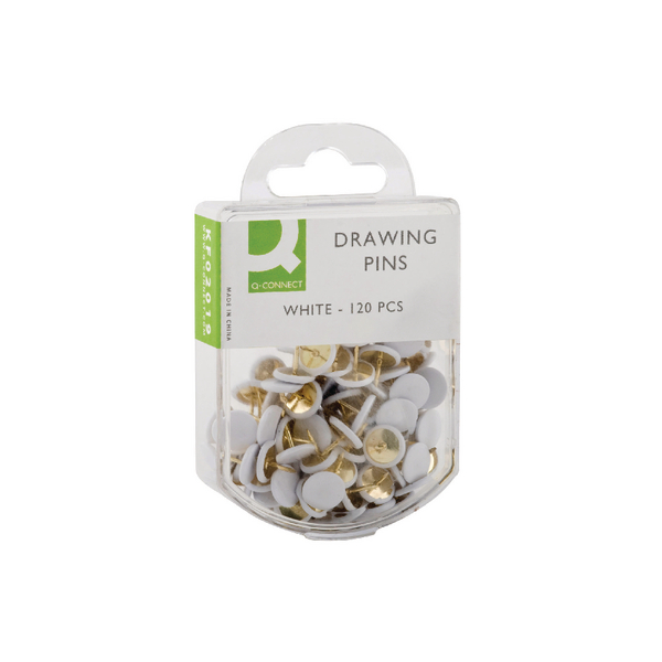 Q-Connect Drawing Pin White Pk120