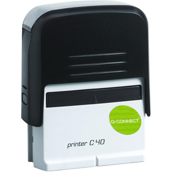 Q-Connect Voucher for Custom Self-Inking Stamp 57 x 20mm KF02112