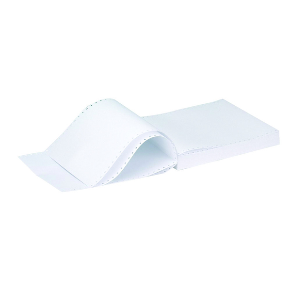 Q-Connect 11x9.5 Inches 2-Part NCR White and Pink Plain Listing Paper (Pack of 1000)