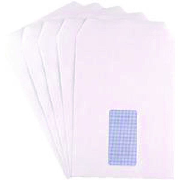 Q-Connect C5 Envelopes Window Pocket Self Seal 90gsm White (Pack of 25 x 25) KF02718