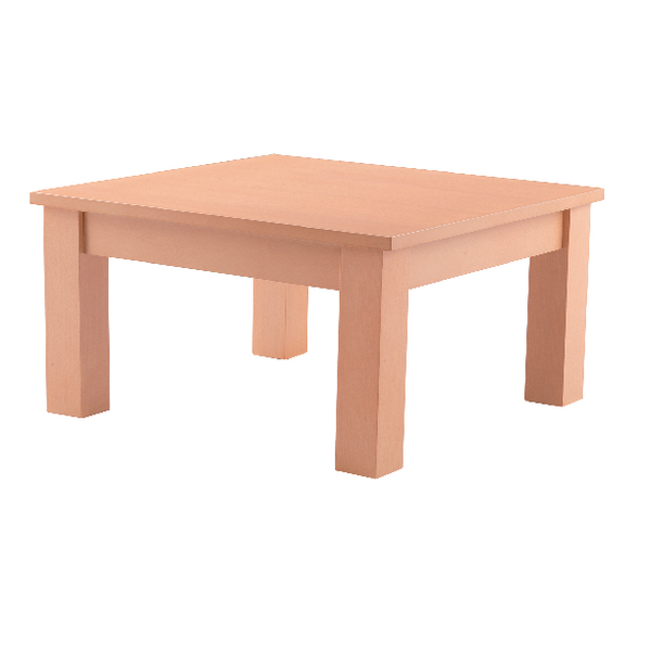 Image for Arista Beech 600mm Square Reception Table (Dimensions: H320 x W600 x D600mm) KF03323