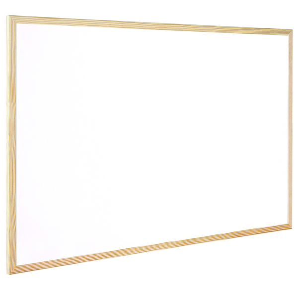 Q-Connect Wooden Frame Whiteboard 1200x900mm