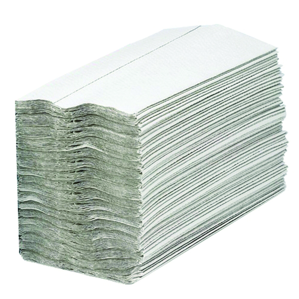 2WORK CFOLD HND TOWELS 1PLY WHITE PK2880