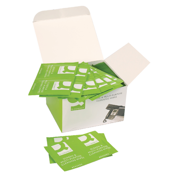 Q-Connect Screen & Multi-Purpose Wipes (Pack of 100)